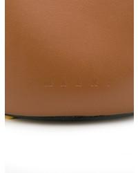 531c9b477b Borsa a secchiello in pelle marrone chiaro di Marni, €1,560 ...