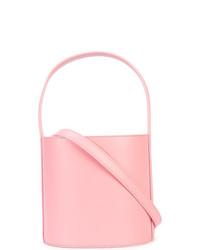 Borsa a secchiello in pelle rosa di Staud