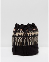 Borsa a secchiello nera di Reclaimed Vintage