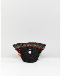moderno ed elegante nella moda 100% qualità vendita economica Borse a tracolla di paglia nere da donna   Moda donna ...