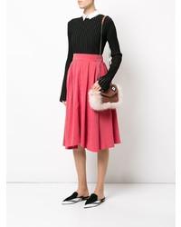 Borsa a tracolla di pelliccia rosa di Les Petits Joueurs
