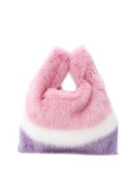 Borsa a tracolla di pelliccia rosa di Simonetta Ravizza