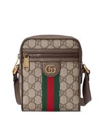 Borsa a tracolla di tela marrone chiaro di Gucci