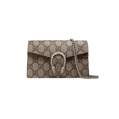 acquisto economico d7352 67d4c €712, Borsa a tracolla di tela stampata marrone di Gucci