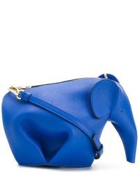Borsa a tracolla in pelle blu di Loewe