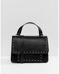 Borsa a tracolla in pelle con borchie nera di Pull&Bear