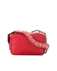 Borsa a tracolla in pelle decorata rossa di RED Valentino