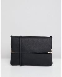 Borsa a tracolla in pelle nera di New Look