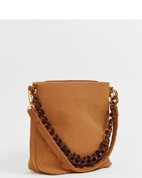 Borsa a tracolla in pelle terracotta di My Accessories