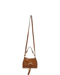 Borsa a tracolla in pelle terracotta di See by Chloe