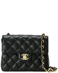 Borsa a tracolla in pelle trapuntata nera di Chanel