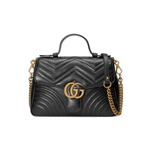 comprare on line b5222 28abf €2.419, Borsa a tracolla in pelle trapuntata nera di Gucci