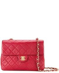 Borsa a tracolla in pelle trapuntata rossa di Chanel