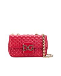Borsa a tracolla in pelle trapuntata rossa di Dolce & Gabbana