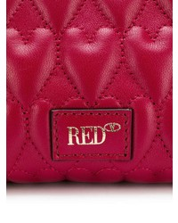 Borsa a tracolla in pelle trapuntata rossa di RED Valentino