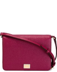 Borsa a tracolla in pelle viola melanzana di Dolce & Gabbana
