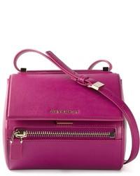 Borsa a tracolla in pelle viola melanzana di Givenchy
