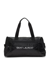Borsa per lo sport in pelle nera di Saint Laurent