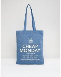 Borsa shopping blu di Cheap Monday