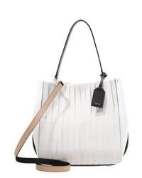 Borsa shopping di tela bianca di DKNY