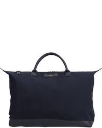 Borsa shopping di tela blu scuro
