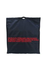Borsa shopping di tela blu scuro di Calvin Klein 205W39nyc