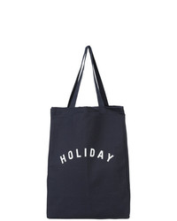 Borsa shopping di tela blu scuro di Holiday