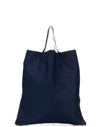 Borsa shopping di tela blu scuro di Marni