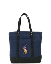 Borsa shopping di tela blu scuro di Polo Ralph Lauren