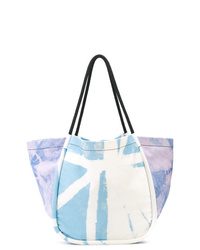 Borsa shopping di tela effetto tie-dye azzurra di Proenza Schouler