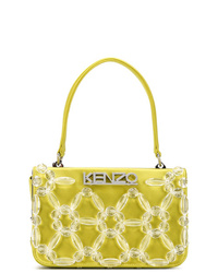 Borsa shopping di tela gialla di Kenzo