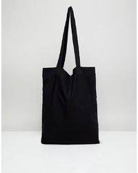 Borsa shopping di tela nera di ASOS DESIGN