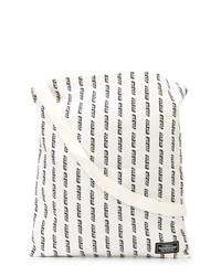 Borsa shopping di tela stampata bianca e nera di Neighborhood