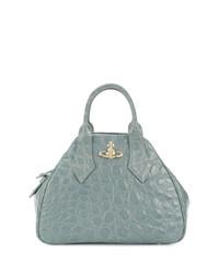 Borsa shopping in pelle azzurra di Vivienne Westwood