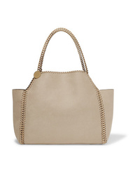 Borsa shopping in pelle beige di Stella McCartney