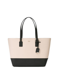 Borsa shopping in pelle bianca e nera di Kate Spade