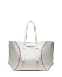 Borsa shopping in pelle bianca di Calvin Klein 205W39nyc