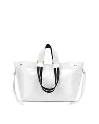 Borsa shopping in pelle bianca di Isabel Marant
