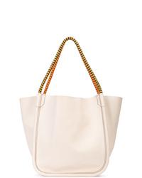 Borsa shopping in pelle bianca di Proenza Schouler