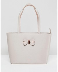 Borsa shopping in pelle bianca di Ted Baker