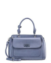 Borsa shopping in pelle blu di Parfois