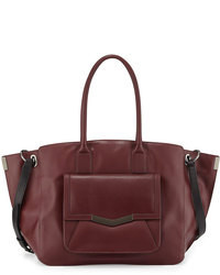 Borsa shopping in pelle bordeaux