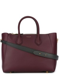 Borsa shopping in pelle bordeaux di Michael Kors