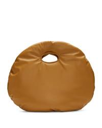 Borsa shopping in pelle marrone chiaro di A.W.A.K.E. Mode