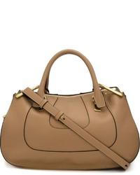 Borsa shopping in pelle marrone chiaro di Chloé