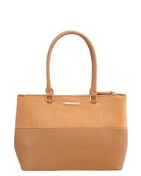 Borsa shopping in pelle marrone chiaro di Dorothy Perkins