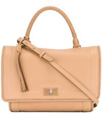 Borsa shopping in pelle marrone chiaro di Givenchy