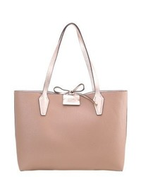 Borsa shopping in pelle marrone chiaro di GUESS
