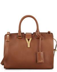 Borsa shopping in pelle marrone