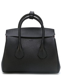 Borsa shopping in pelle nera di Bally